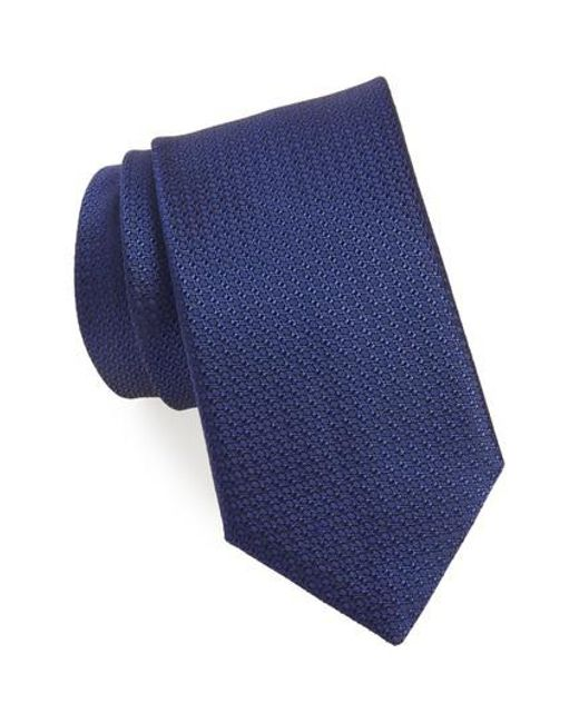 Canali - Blue Solid Silk Tie for Men - Lyst