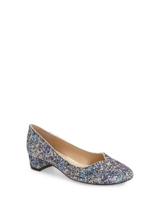 Bambalina Glitter Sequin Block Heel Pumps