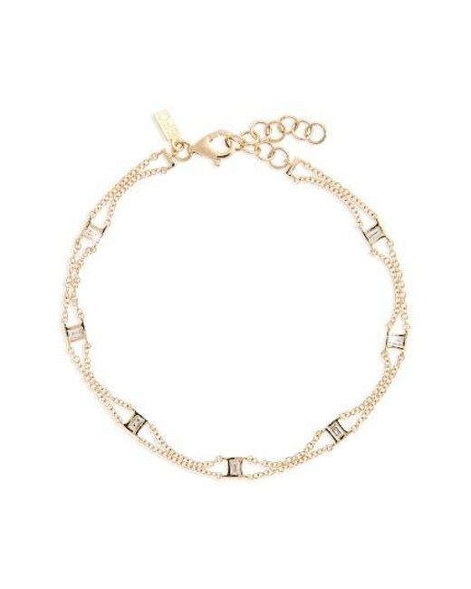 EF Collection | Metallic Lucky 7 Baguette Chain Diamond Bracelet | Lyst
