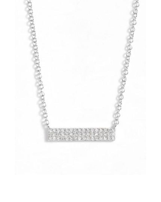 EF Collection | Metallic Mini Diamond Pendant Necklace | Lyst
