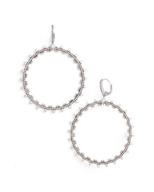 Nadri | Metallic Cardamom Frontal Hoop Earrings | Lyst