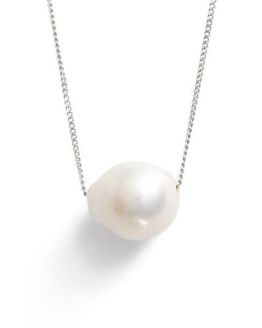 Chan Luu | White Pearl Pendant Necklace | Lyst