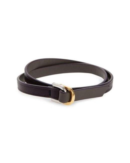 Want Les Essentiels De La Vie | Brown Arlanda Leather Double Wrap Bracelet for Men | Lyst