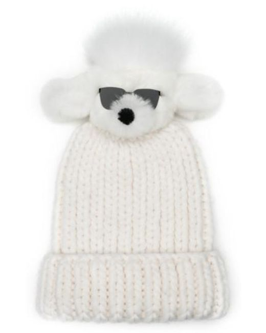 Eugenia Kim | White Rain Wool Stocking Cap With Genuine Rabbit Fur Pom | Lyst