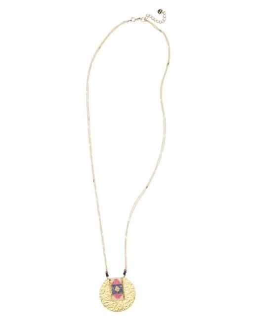 Nakamol | Pink Seed Bead Pendant Necklace | Lyst