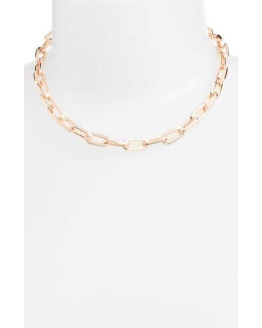 Rebecca Minkoff | Metallic Signature Link Necklace | Lyst