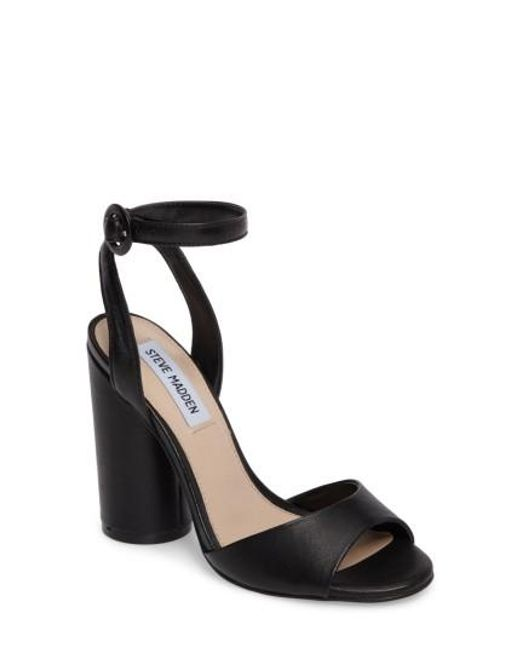 Steve Madden   Natural Clare Column Heel Sandal   Lyst