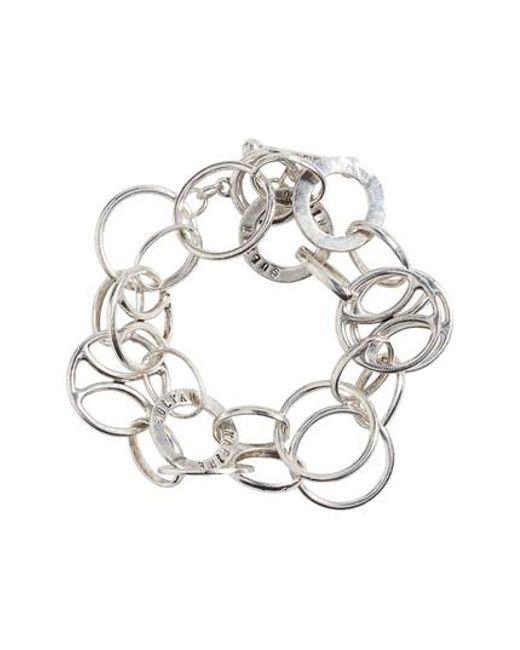 Karine Sultan   Metallic Link Wrap Bracelet   Lyst