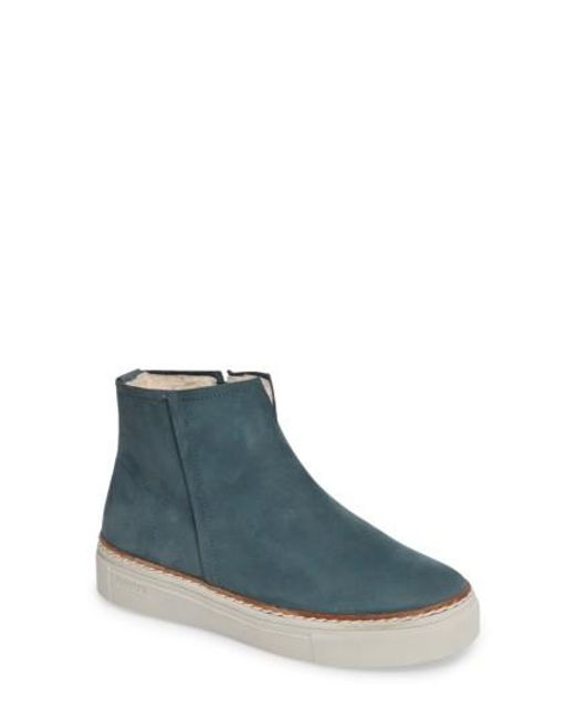 Blackstone | Blue Ol27 Genuine Shearling Lined Bootie | Lyst