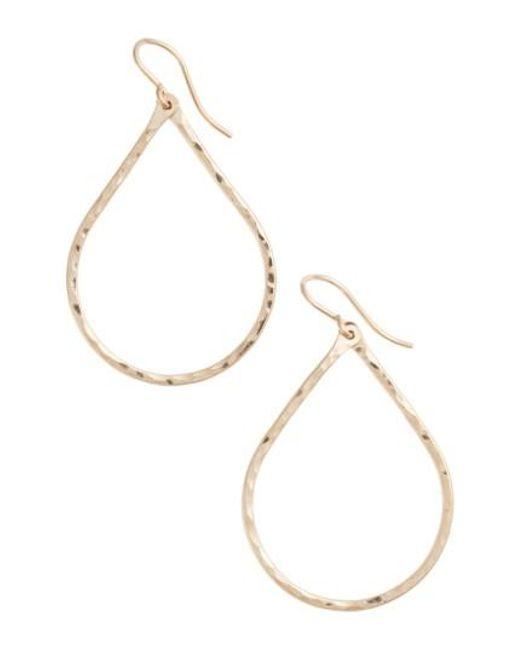 Nashelle | Metallic Pure Small Hammered Teardrop Earrings | Lyst