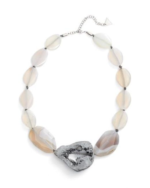 Serefina | Metallic Agate & Drusy Statement Necklace | Lyst