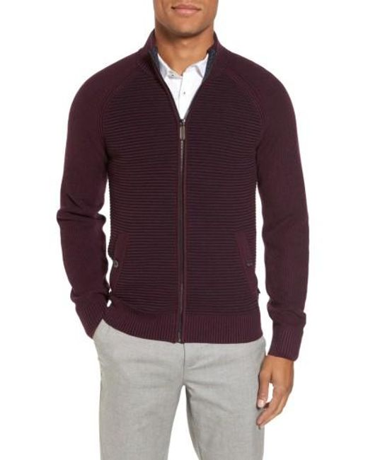 Ted Baker | Purple Modern Slim Fit Raglan Sweater for Men | Lyst