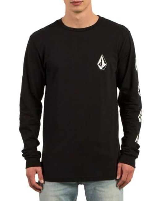 Volcom   Black Deadly Stones Long Sleeve T-shirt for Men   Lyst