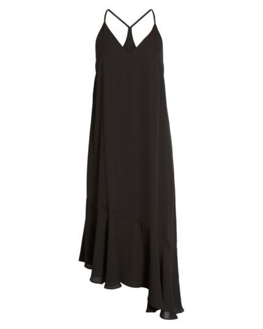 Soprano | Black Asymmetrical Midi Dress | Lyst