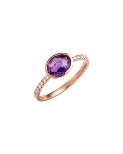 Bony Levy   Multicolor Iris Semiprecious Stone & Diamond Ring (nordstrom Exclusive)   Lyst