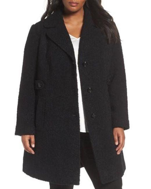 Gallery | Black Boucle Coat | Lyst