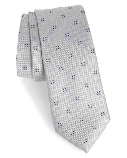 Calibrate   Metallic Classic Neat Silk Tie for Men   Lyst