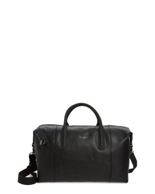 Ted Baker   Black Novana Leather Duffel Bag for Men   Lyst