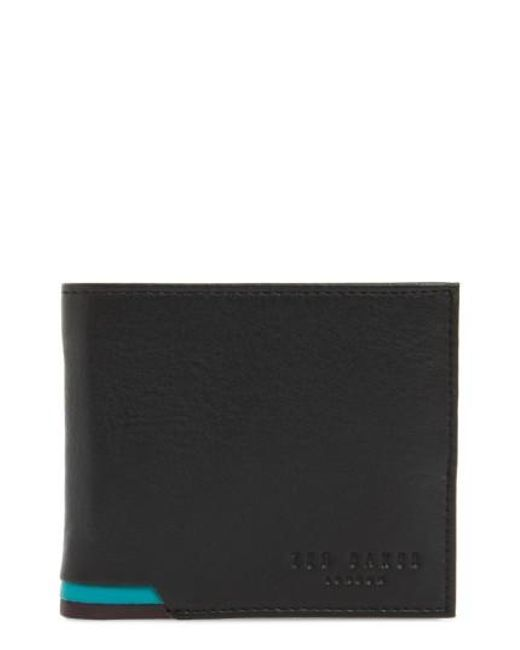 Ted Baker | Black Corcoin Leather Wallet for Men | Lyst