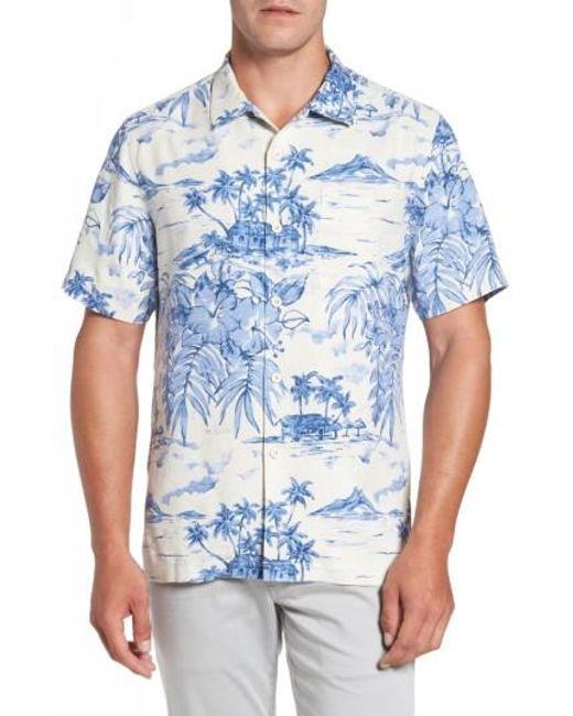 Tommy bahama destination hawaii classic fit silk camp for Tommy bahama florida shirt