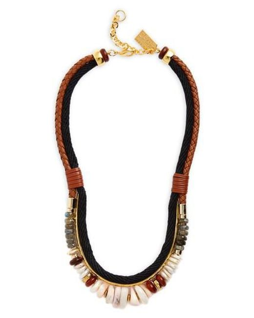 Lizzie Fortunato | Black Sand Mesa Necklace | Lyst