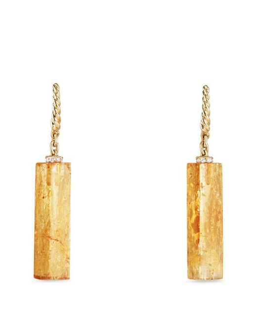 David Yurman - Metallic Bijoux Fine Bead And Chain Earrings With Imperial Topaz - Lyst