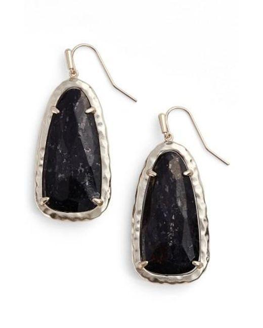 Kendra Scott   Black Lyn Drop Earrings   Lyst