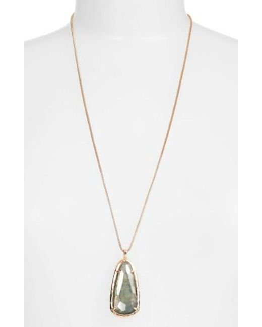 Kendra Scott | Metallic Saylor Pendant Necklace | Lyst