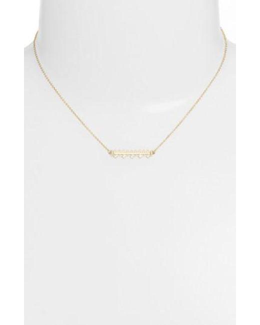 Kendra Scott   Metallic Anissa Bar Pendant Necklace   Lyst