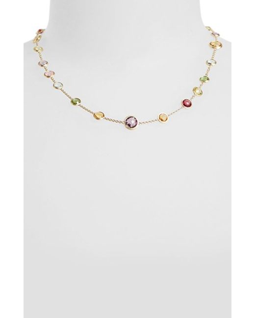 Marco Bicego | Multicolor 'mini Jaipur' Station Necklace | Lyst