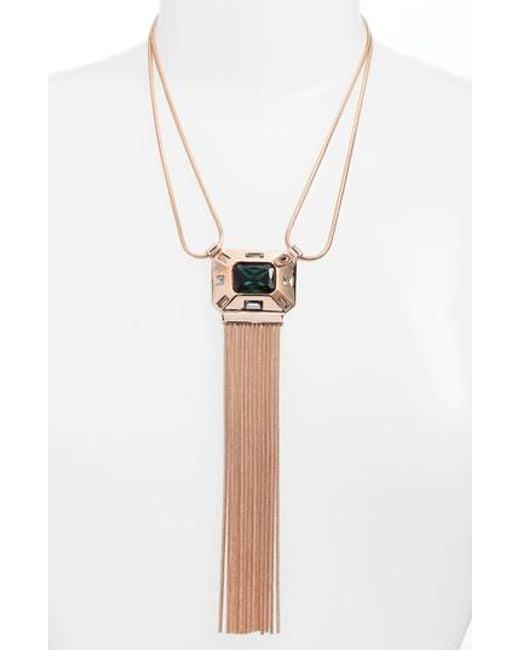 Vince Camuto   Metallic Fringe Pendant Necklace   Lyst
