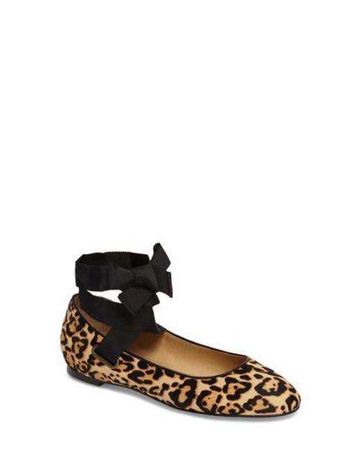 Splendid | Black Renee Ii Genuine Calf Hair Ankle Tie Flat | Lyst