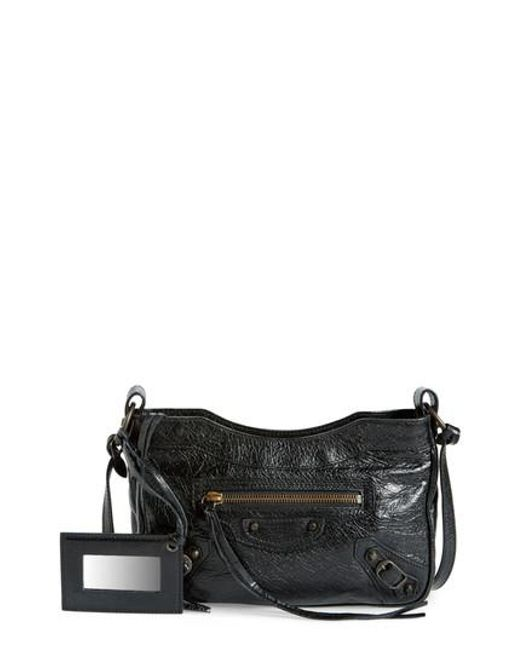 Balenciaga | Black Balenciaga Classic Hip Leather Crossbody Bag | Lyst