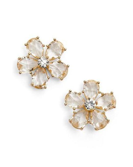 Kate Spade | Metallic In Full Bloom Statement Stud Earrings | Lyst