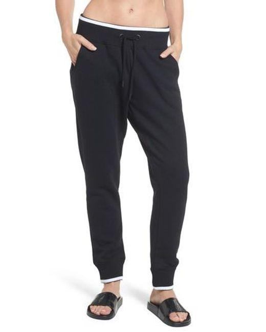 Ivy Park   Black Logo Back Jogger Pants for Men   Lyst