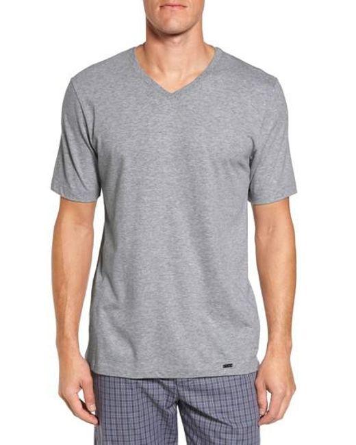 Hanro   Gray Living V-neck T-shirt for Men   Lyst