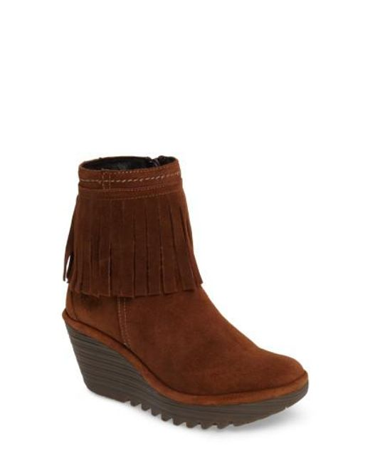 Fly London | Brown Yagi Fringe Boot | Lyst