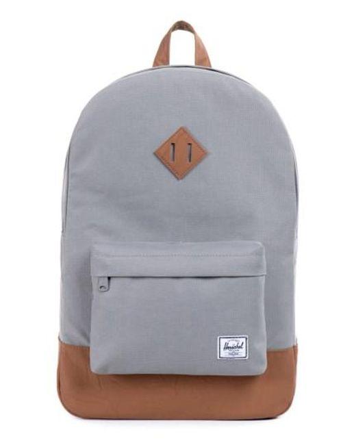 Herschel Supply Co.   Gray Heritage Backpack for Men   Lyst
