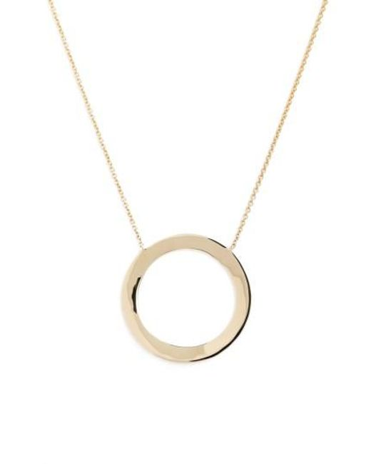 Bony Levy | Metallic Geo Circle Pendant Necklace (nordstrom Exclusive) | Lyst