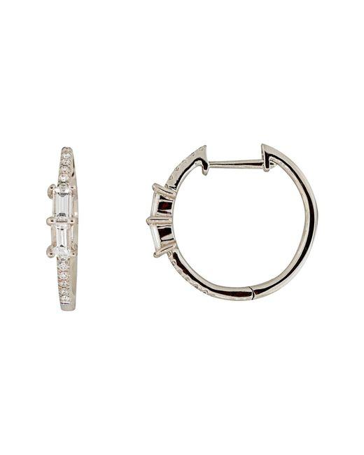 Bony Levy - Metallic Diamond Hoop Earrings (nordstrom Exclusive) - Lyst