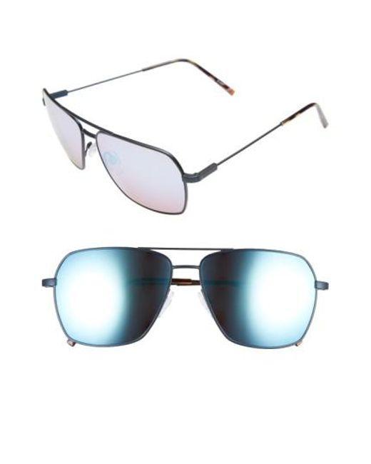 Electric - Metallic 'av2' 59mm Navigator Sunglasses - Midnight/ Rose Sky Blue Chrome for Men - Lyst