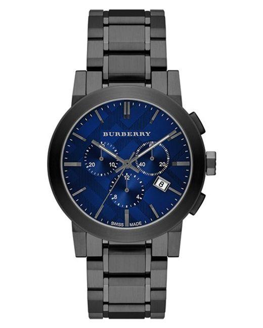 Burberry | Gray Large Chronograph Bracelet Watch for Men | Lyst