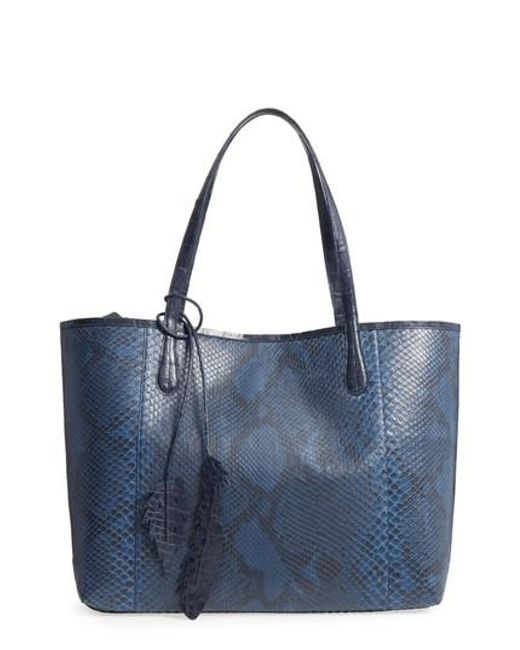 Nancy Gonzalez | Blue Medium Erica Genuine Python & Crocodile Tote | Lyst