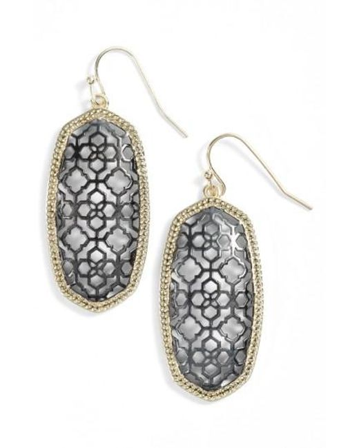 Kendra Scott | Metallic Elle Openwork Drop Earrings | Lyst