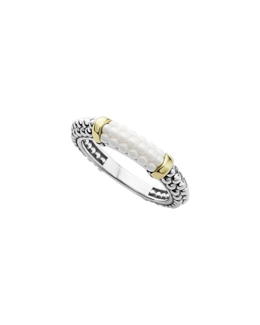 Lagos - Metallic 'caviar' Stacking Ring - Lyst