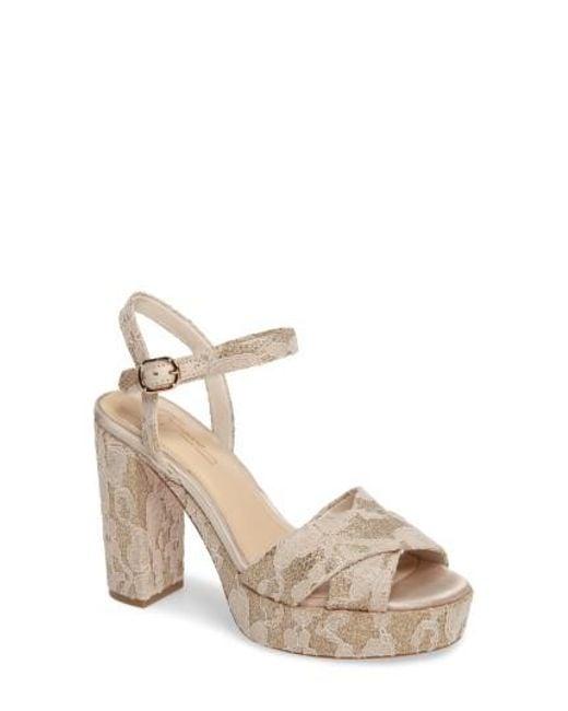 Imagine Vince Camuto   Natural 'valora' Platform Sandal   Lyst
