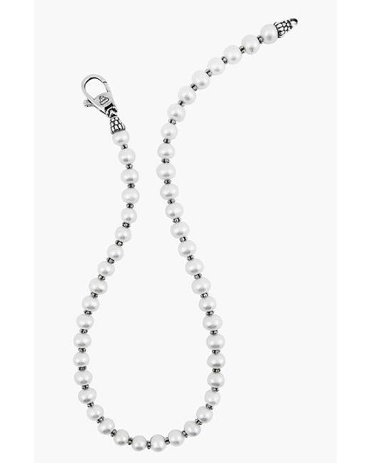 Lagos | Metallic 'luna Pearl' Strand Necklace | Lyst