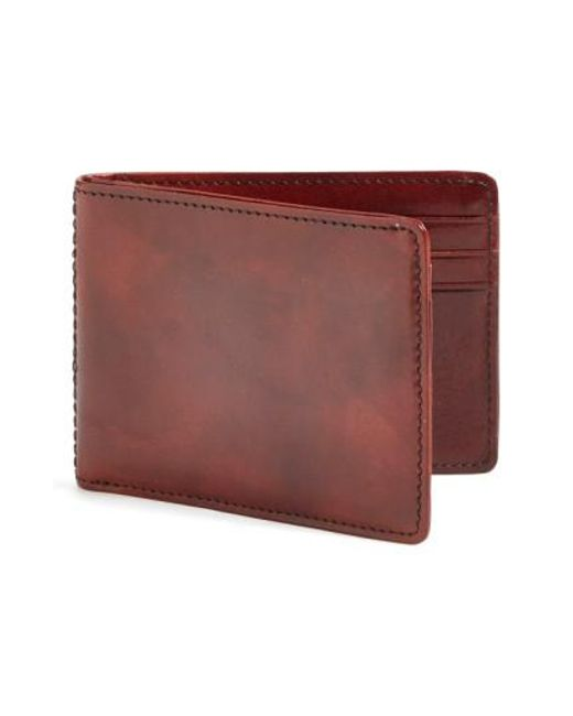 Bosca - Brown Small Bifold Wallet for Men - Lyst