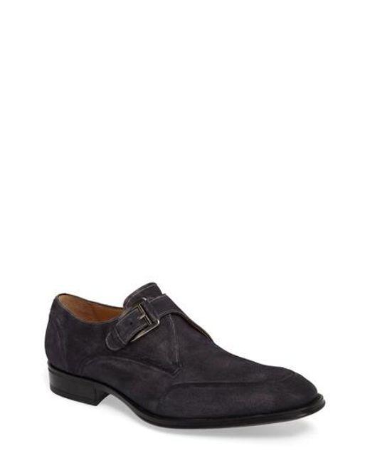 Mezlan | Gray Baza Monk Strap Shoe for Men | Lyst