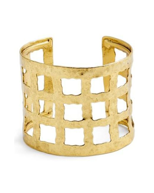Karine Sultan - Metallic Wide Cuff - Lyst